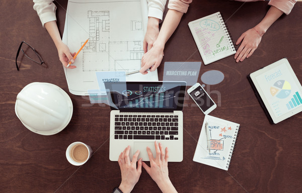 architects working on project Stock photo © LightFieldStudios