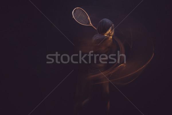 woman with tennis racket Stock photo © LightFieldStudios