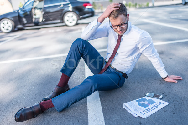 Stock photo: stressed businessman