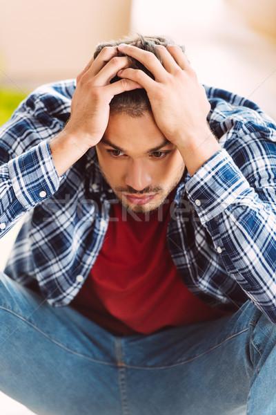 pensive man Stock photo © LightFieldStudios