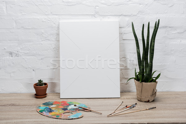 empty drawing easel on table Stock photo © LightFieldStudios