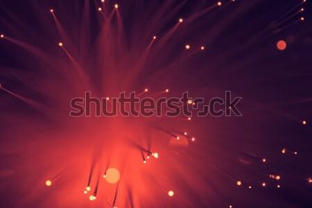 Topo ver vermelho fibra ótica Foto stock © LightFieldStudios