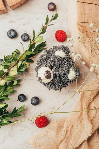 Top мнение Sweet вкусный оладья форма Сток-фото © LightFieldStudios