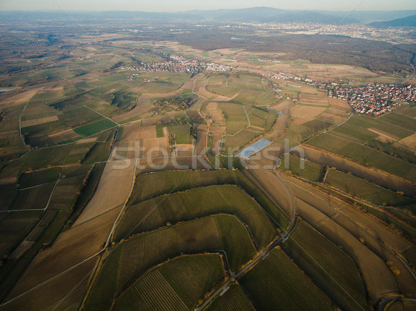 Aerial view of majestic landscape with city in Germany Stock photo © LightFieldStudios