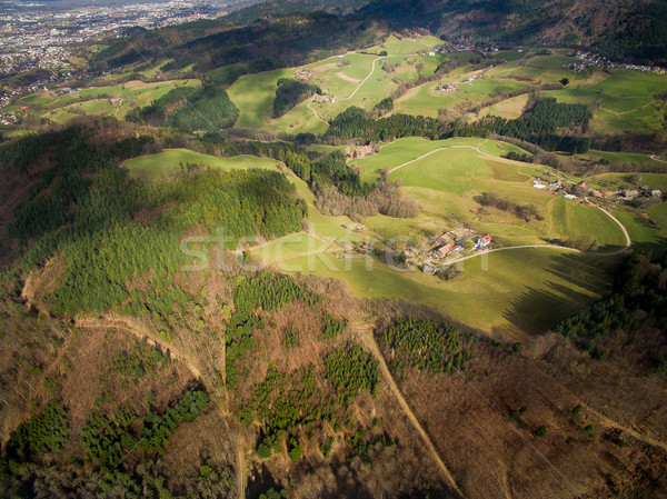 Aerial view of majestic landscape with green hills and trees, Germany Stock photo © LightFieldStudios
