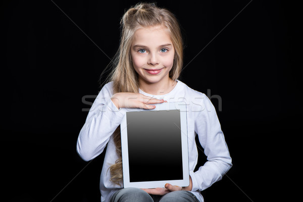 Girl with digital tablet Stock photo © LightFieldStudios