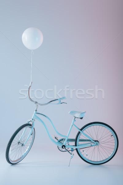 bicycle with white balloon Stock photo © LightFieldStudios