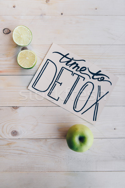time to detox card and organic food Stock photo © LightFieldStudios