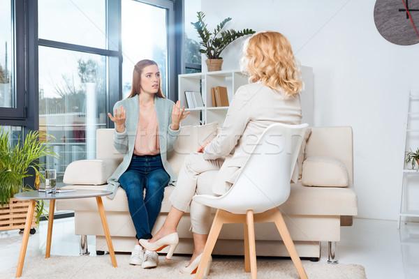 психолог пациент терапии говорить Сток-фото © LightFieldStudios