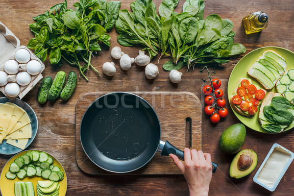 empty frying pan Stock photo © LightFieldStudios