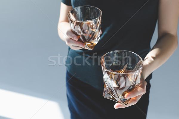 Persona gafas brandy tiro lujo Foto stock © LightFieldStudios