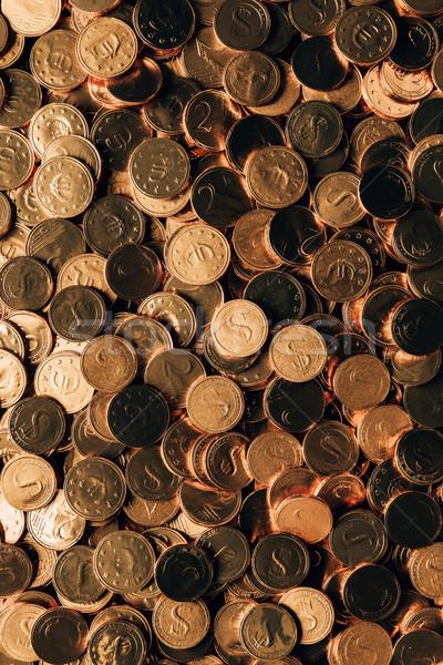Top view monete festa di San Patrizio segno Foto d'archivio © LightFieldStudios