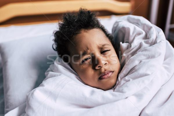 ストックフォト: 病気 · アフリカ系アメリカ人 · 少年 · 肖像 · カバー