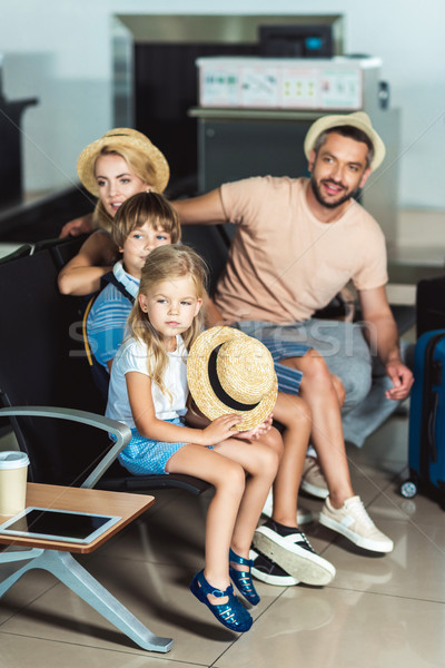 family at airport Stock photo © LightFieldStudios