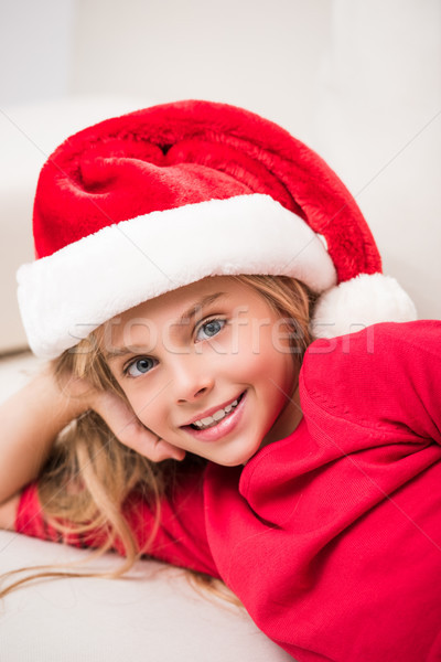 child in Santa hat Stock photo © LightFieldStudios