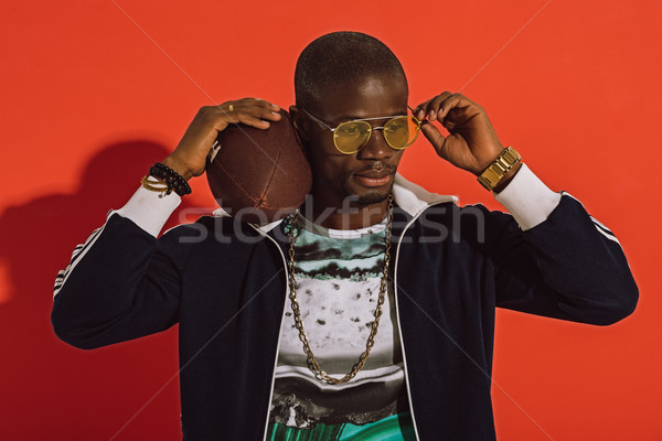 african american man with rugby ball    Stock photo © LightFieldStudios