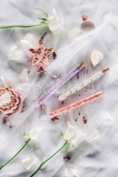 три ванную соль Top мнение белый Сток-фото © LightFieldStudios