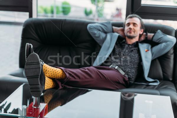 relaxed businessman Stock photo © LightFieldStudios