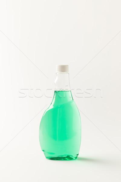 Bottiglia pulizia fluido primo piano view plastica Foto d'archivio © LightFieldStudios