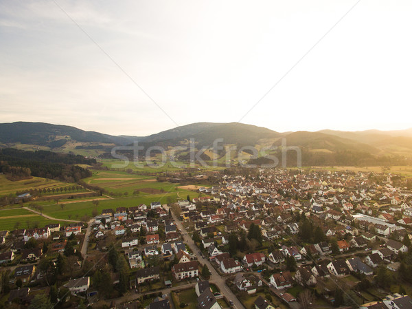 Aerial view of landmark with town and hills with backlit, Germany Stock photo © LightFieldStudios