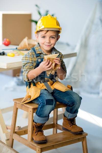 Boy eating sandwich    Stock photo © LightFieldStudios