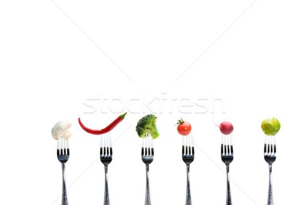 свежие овощи изолированный белый Здоровый образ жизни томатный жизни Сток-фото © LightFieldStudios