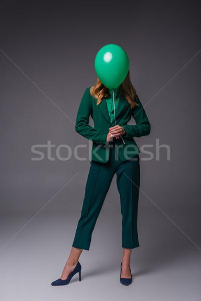 stylish girl with balloon Stock photo © LightFieldStudios