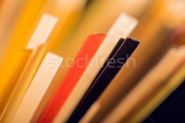 colored raw spaghetti Stock photo © LightFieldStudios