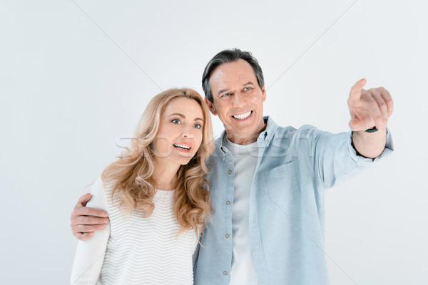 Portret uśmiechnięty elegancki dojrzały mężczyzna kobieta biały Zdjęcia stock © LightFieldStudios