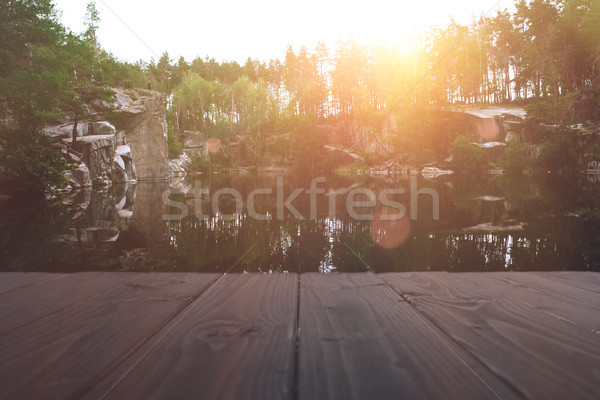 lake at sunset Stock photo © LightFieldStudios