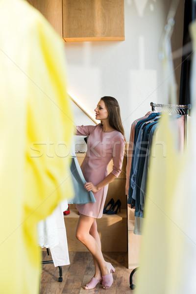одежды бутик привлекательный счастливым Сток-фото © LightFieldStudios