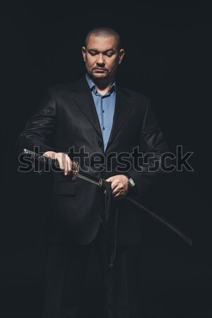 Handsome businessman in black suit  Stock photo © LightFieldStudios