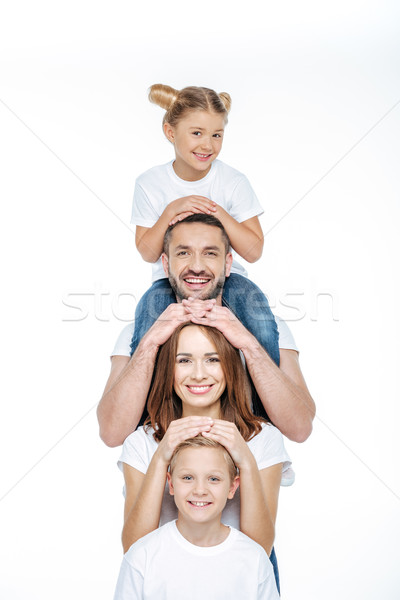 Happy family having fun Stock photo © LightFieldStudios