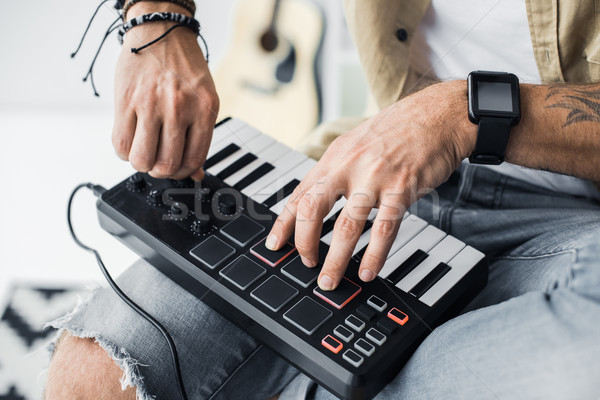 клавиатура выстрел современных рабочих искусства фортепиано Сток-фото © LightFieldStudios
