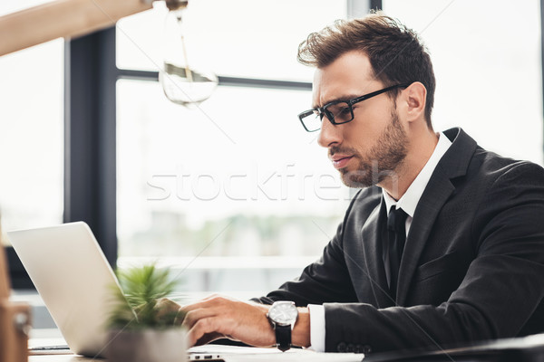 focused businessman Stock photo © LightFieldStudios