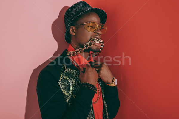 african american man in jewelry Stock photo © LightFieldStudios