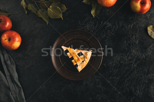 piece of apple pie Stock photo © LightFieldStudios