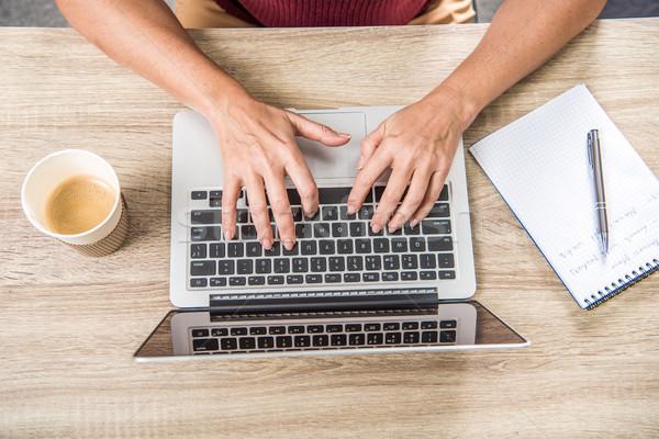 Woman using laptop   Stock photo © LightFieldStudios