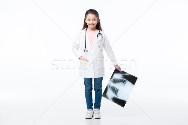 Stockfoto: Meisje · arts · kostuum · portret · meisje