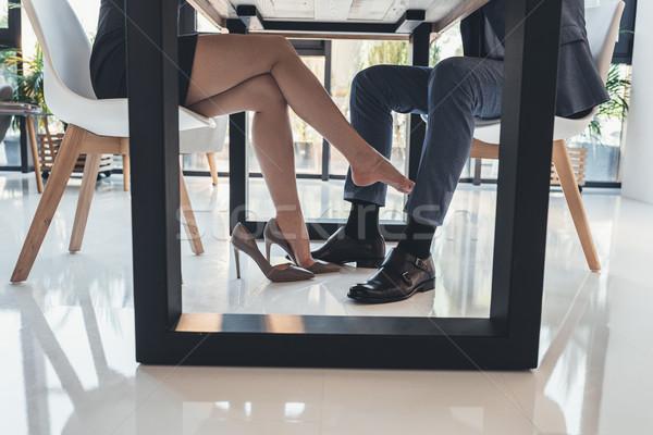 女性 男 表 ショット 触れる ストックフォト © LightFieldStudios