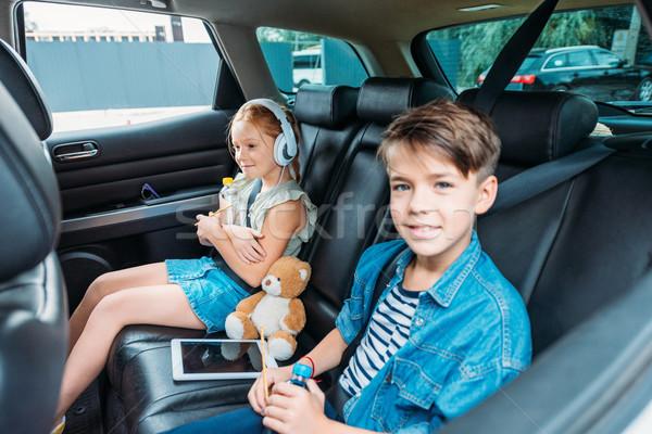 弟 姉妹 準備 車 旅行 ストックフォト © LightFieldStudios