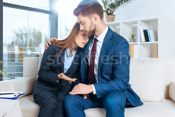 couple supporting each other Stock photo © LightFieldStudios