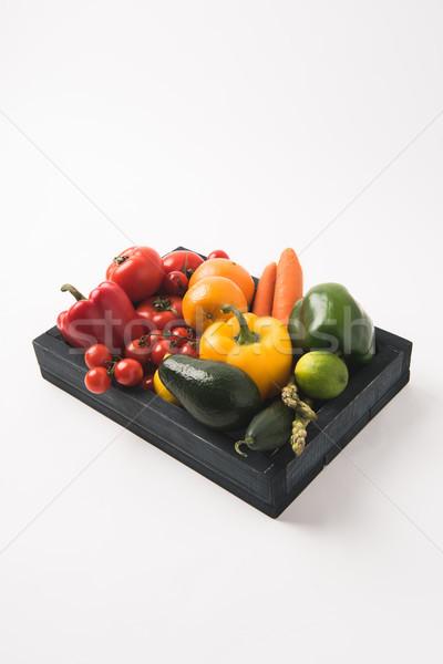 Juteuse brut légumes fruits sombre bois Photo stock © LightFieldStudios