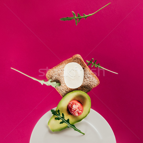 Toast stukken avocado Stockfoto © LightFieldStudios