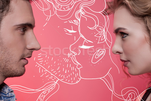 young couple in love Stock photo © LightFieldStudios