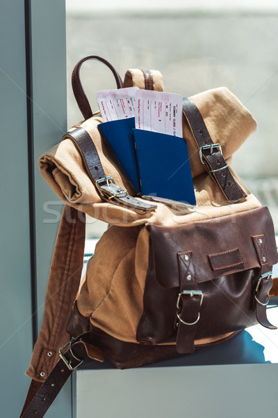backpack, passports and tickets Stock photo © LightFieldStudios