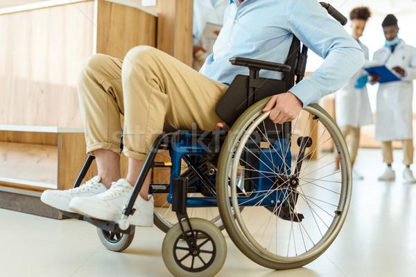 Disabled man at hospital Stock photo © LightFieldStudios