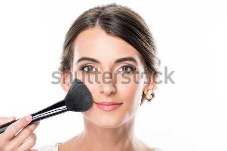 Maquiador pó ver modelos cara Foto stock © LightFieldStudios