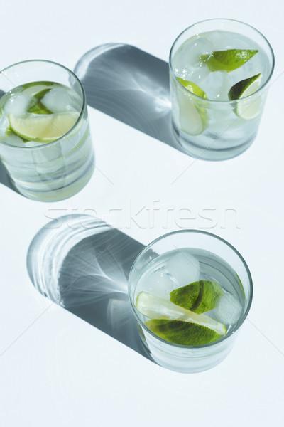 Gin cocktail kalk Stockfoto © LightFieldStudios