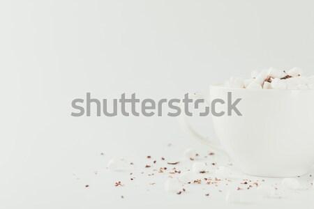 Open capsule with medication on grey, medicine and healthcare concept    Stock photo © LightFieldStudios